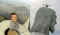 Travel boss takes selfie at the top of Brazil's Christ the Redeemer