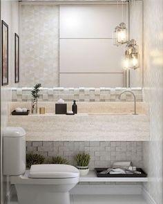Inspiração de lavabo. ❤️ #decoracao #banheiros #lavabos #reforma #construcao #arquitetura #design #homedecor #arq #interiores #interiordesign #designdeinteriores #decoracao #decor #projetos