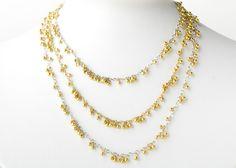Caviar necklace, 18k