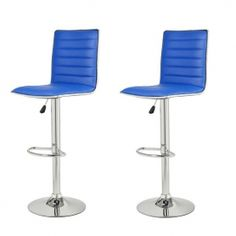 Adeco Goobies Blue Swivel Bar Stools  CH0029-4 $89.99