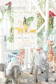 Feast your eyes on this fun safari wild one! The party decorations are so cool!! See more party ideas and share yours at CatchMyParty.com  #catchmyparty #partyideas #safariparty #safari #wildanimals #wildone #boy1stbirthdayparty Jungle Party, Jungle Safari, Safari Party Decorations, Themes Photo, Wild Ones, Animal Party, Baby Shower Cakes, Photo Galleries, Birthdays