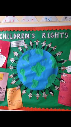 Children's rights Diy Classroom Decorations, School Decorations, Classroom Themes, School Displays, Classroom Displays, Children's Rights And Responsibilities, Classroom Charter, Rights Respecting Schools, Children's Day Craft