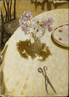 Primulas on a Table, William Nicholson. 1927