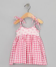 Gingham Babydoll Dress from M.N. Bird Co. on #zulily!