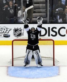 "Jonathan Quick...or as Dustin Penner likes to call him ""Jonny Smyth"" #lakings"