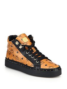 da50cb678 MCM - Coated Canvas Mid-Top Sneakers. Mcm SneakersMan ShopAthletic ...