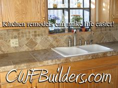 Installing Tile Countertops | Tile countertops, Countertops and ...