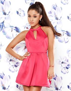 Ariana Grande For Lipsy Bow Back Skater Dress Ariana Grande Lipsy, Ariana Grande Fotos, Ariana Grande Outfits, Beach Wear Dresses, Sexy Dresses, Summer Dresses, Short Dresses, Vikings, Halter Dress Short