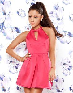 Ariana Grande For Lipsy Bow Back Skater Dress