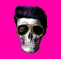Pink Elvis Skull