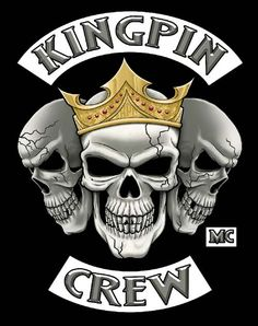 Biker Gang Logos Kingpin crew logo from their