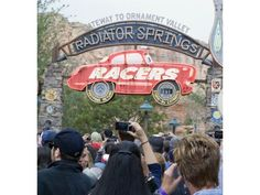 Annual passholders who purchased special sneak peek tickets lined up to ride Radiator Springs Racers for the first time in Cars Land at Disney California Adventure on Saturday.