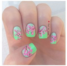 cherry blossom nail art (photo only)