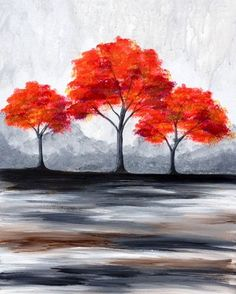 """There is something incredibly nostalgic and significant about the annual cascade of autumn leaves."" Joe L. Wheeler #autumn #trees #paintandsip"