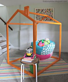 Playhouse frame - I love how simple this is… lots of room for imagination and wouldn't be an eyesore.