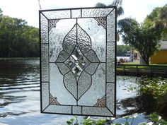 Vintage Look Traditional Stained Glass Panel by ArtfulFolk on Etsy