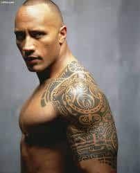 Dark Skin Tattoos 50 The Rock Dwayne Johnson Cool Tattoos For Guys Tribal Tattoos For Men