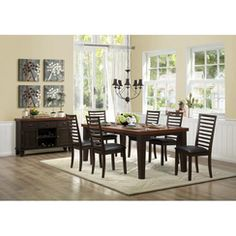 Homelegance Walsh Collection Color Walnut (Set of Dining Room Table Chairs, Dining Table In Kitchen, Dining Furniture, Dining Set, Outdoor Furniture Sets, Online Furniture, Design, Home Decor, Walnut Veneer