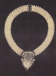 one of a kind woven pearl necklace , by Marina j