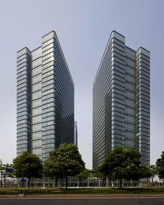 2011 China, Hangzhou  UDC Twin Towers, Hualian Qianjiang Times Square-gmp Architekten von Gerkan, Marg und Partner