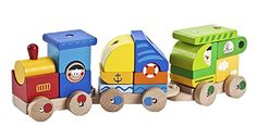 Wooden Toys  Building Blocks  Stacking Cargo Train * Check out this great product.