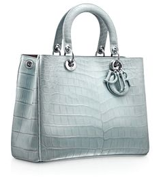 Dior Bleu Porcelain Crocodile Diorissimo Bag