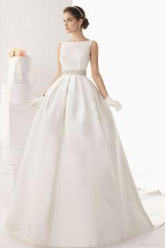 sleeveless ball gown bateau neck wedding dress
