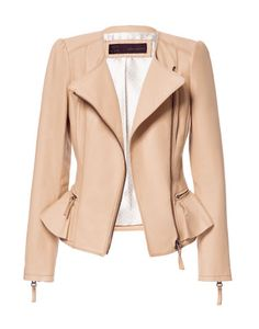 LEATHER JACKET WITH RUFFLE DETAIL - Blazers - Woman - ZARA United Stat... | Keep.com