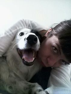 With my border collie