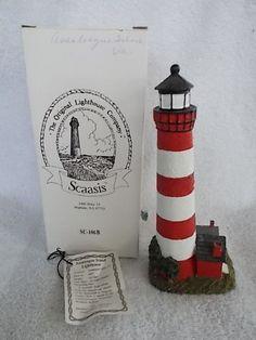Scaasis Lighthouse Assateague Island Virginia Still in Original Box 3x8 Inches