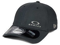 Oakley Mens Diamond New Era Hat Graphite MediumLarge ** More info could be found at the image url. Note:It is Affiliate Link to Amazon.