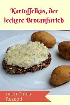 """Kartoffelkäs - oder Erdäpfelkas, wie er in Niederbayern heißt - gilt als """"Arme Leute""""-Essen, ist aber soooo köstlich, dass sich die Reichen dann bestimmt gleich eine Scheibe Brot abschneiden wollen. An Guadn!"""