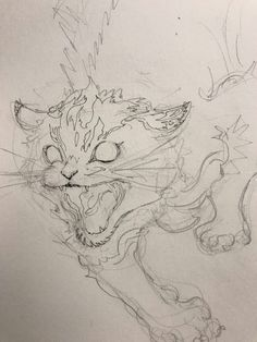 Animal Sketches, Art Drawings Sketches, Animal Drawings, Shadow Drawing, Cat Drawing, Blackwork, Creepy Cat, Animation Sketches, Art Addiction