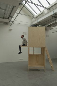 """Thai graduate designer Worapong Manupipatpong has created an installation that is halfway between furniture and architecture. The two-level, wooden structures have small ladders leading to their upper platforms and form various places to sit. Manupipatpong built the structures for his graduation project while studying atKonstfack University College of Arts, Crafts and Design in Sweden. """"This"""