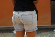gap, boyfriend, shorts, denim, ootd, sandals, target, itsapplesandorangesblog.com