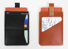 Passport Sleeve Wallet from Bellroy - Fly light with a no-fuss solution in black and tan