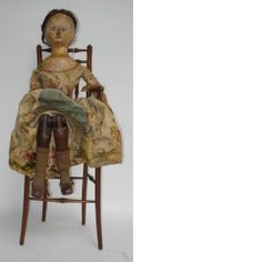 "Large 29"" George III English wooden doll"