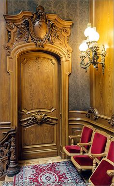 Львов Дом ученых архитектура барокко необарокко интерьер