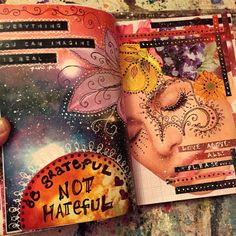 Mixed media art journal pages jenndalyn Art Journal Pages, Art Journal Prompts, Art Journals, Journal Ideas, Bullet Journals, Mixed Media Journal, Mixed Media Art, Moleskine, Altered Books
