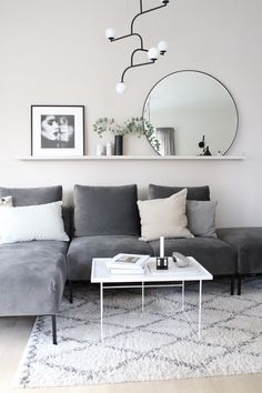 Attractive Living Room Wall Decor Ideas To Copy Asap fine The Nuiances of Attractive Living Room Wall Decor Ideas To Copy Asap By this time, you already understand what you will be storing on the shelves. Living Room Grey, Living Room Interior, Home Living Room, Apartment Living, Living Room Designs, Living Room Decor, Charcoal Sofa Living Room, Male Apartment, Interior Livingroom