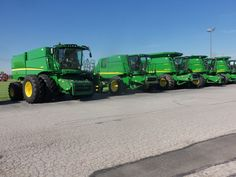 John Deere S680,9550,9870,970,9670 combines @ JD Equipment