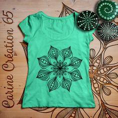 T-Shirt femme - Vert - S - dessin Chocha - 20€