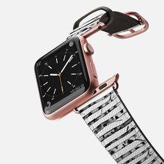 Birch Shadows - Saffiano Leather Watch Band. Birch inspired watchband @casetify #casetify #casetifyartist #trees #birch #nature #minimal #blackandwhite #birchtree