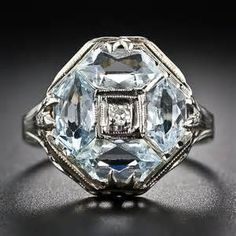 Vintage Aquamarine Ring - Bing Images