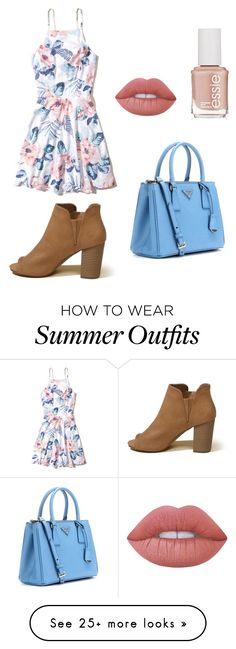 """RANDOM OUTFIT #4"" by keaghansmerjac on Polyvore featuring Hollister Co., Prada, Lime Crime and Essie"