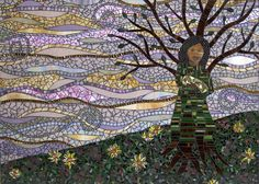 """""""Foundation"""" by Barb Keith, via Flickr-stained glass mosaic"""
