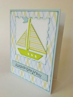 Handmade Baby Shower Invitations - Sailboat - Invites or Baby Gift Card - Greeting Cards and Invitations. $3.25, via Etsy.