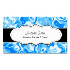 Blue abstract water texture Business Cards. I love this design! It is available for customization or ready to buy as is. All you need is to add your business info to this template then place the order. It will ship within 24 hours. Just click the image to make your own!