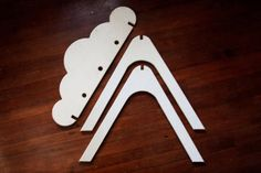 Wooden Cloud Activity Gym by ShopLittles on Etsy, $95.00