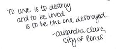 but mortal instruments though